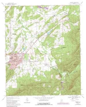 Piedmont topo map