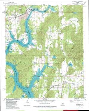 Wilsonville topo map