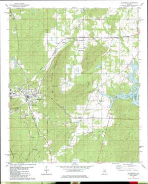 Columbiana topo map