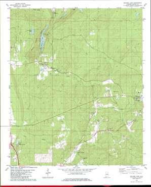 Bounds Lake topo map