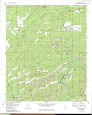 Halfmile Shoals topo map