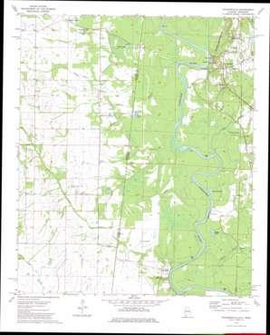 Pickensville topo map