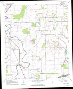Delta City topo map