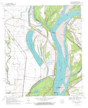 Readland topo map