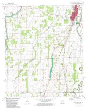 Eudora South topo map