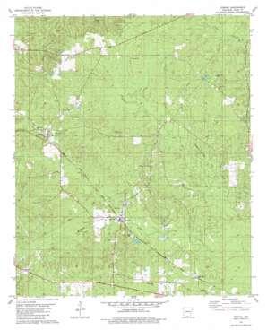 Urbana topo map