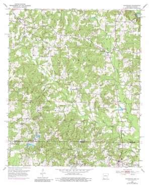 Doddridge topo map