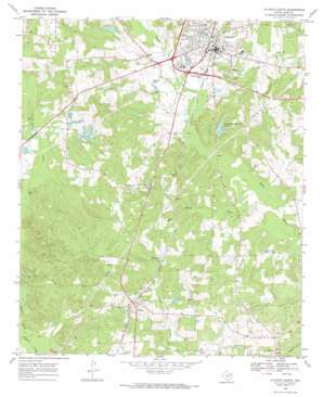 Atlanta South topo map