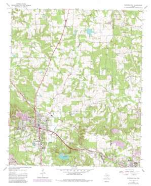 Daingerfield topo map