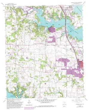 Lewisville West topo map