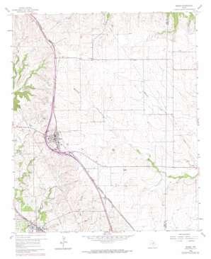 Rhome topo map