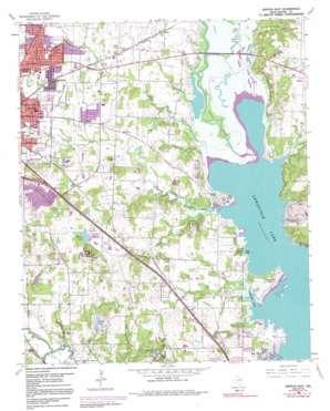 Denton East topo map