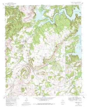 Wizard Wells topo map