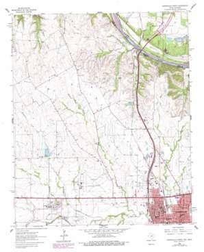 Gainesville North topo map