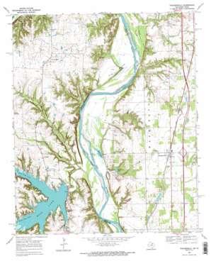 Thackerville topo map