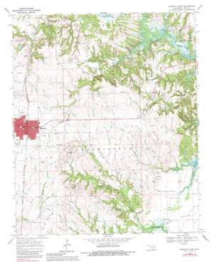 Marietta East topo map