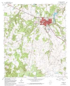 Jacksboro topo map