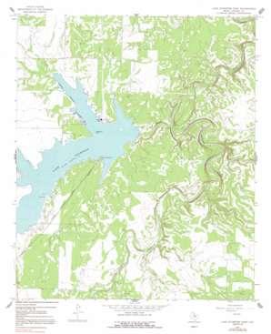 Lake Stamford East topo map