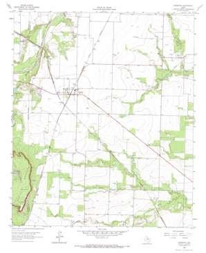 Sagerton topo map