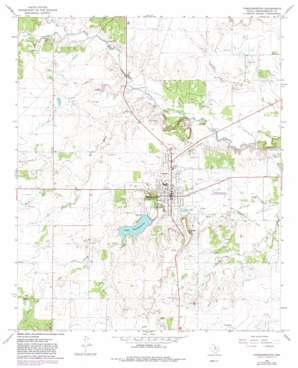 Throckmorton topo map