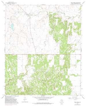 Tonk Creek topo map