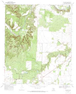 Old Glory topo map