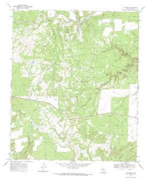 T-O Creek topo map