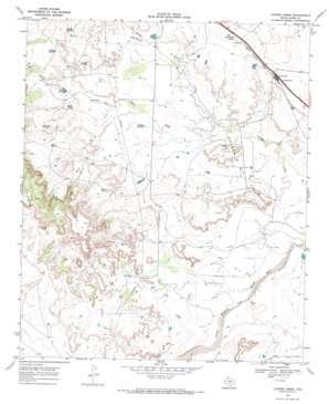 Cooper Creek topo map