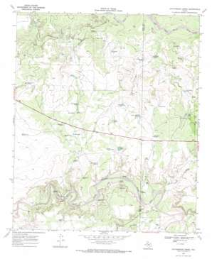 Cottonwood Creek topo map