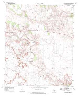 Justiceburg Nw topo map