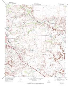 Post East topo map