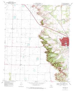 Post West topo map