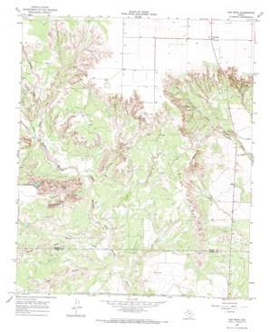Cap Rock topo map