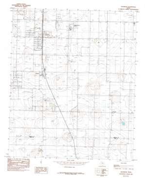 Woodrow topo map