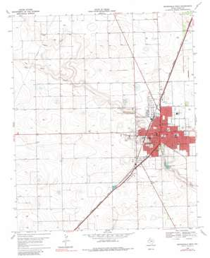 Brownfield West topo map