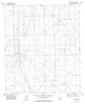 Fort Ranch topo map