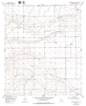 Hackberry Ranch topo map