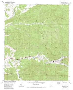 Mescalero topo map