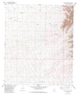 Dugout Canyon topo map