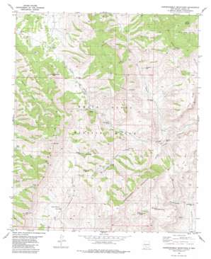 Hardscrabble Mountains topo map