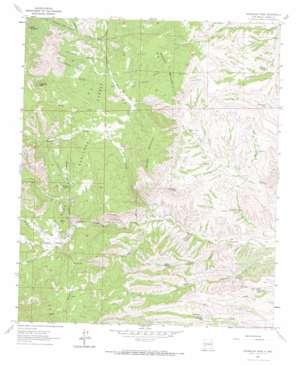Sugarloaf Peak topo map
