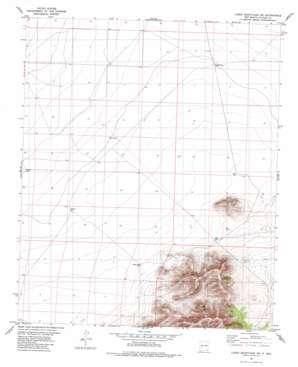Luera Mountains Nw topo map