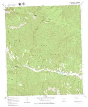 Copperas Peak topo map