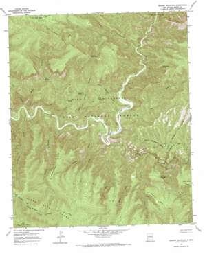 Granny Mountain topo map