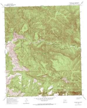 Canyon Hill topo map