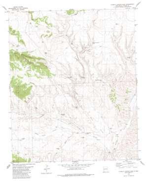 O Bar O Canyon East topo map