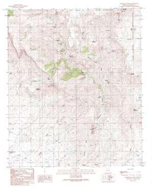 Markham Creek topo map