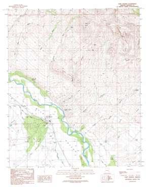 Fort Thomas topo map