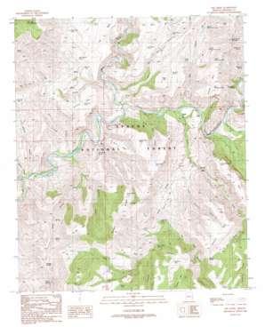 Dix Creek topo map