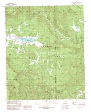 Luna Lake topo map